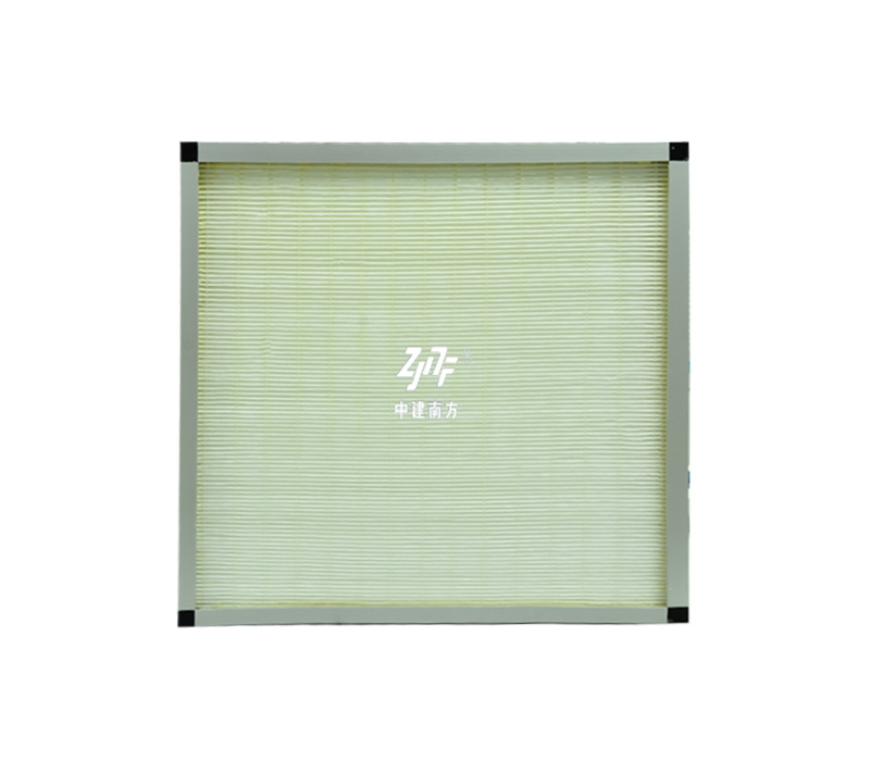 Plate type medium efficiency air filter